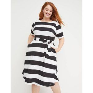 Beauticurve X Lane Bryant White and Black Striped